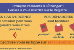 INSCRIPTION AU REGISTRE DES FRANÇAIS ETABLIS HORS DE FRANCE